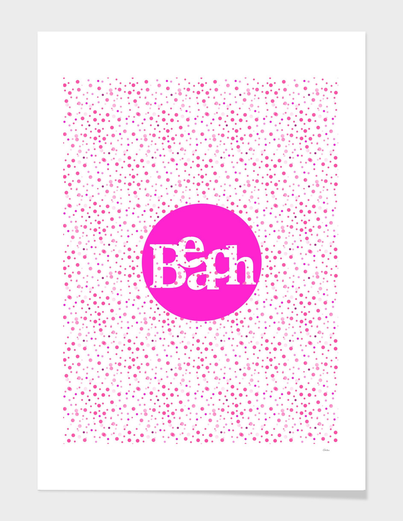 Beach Pink Polka Dots