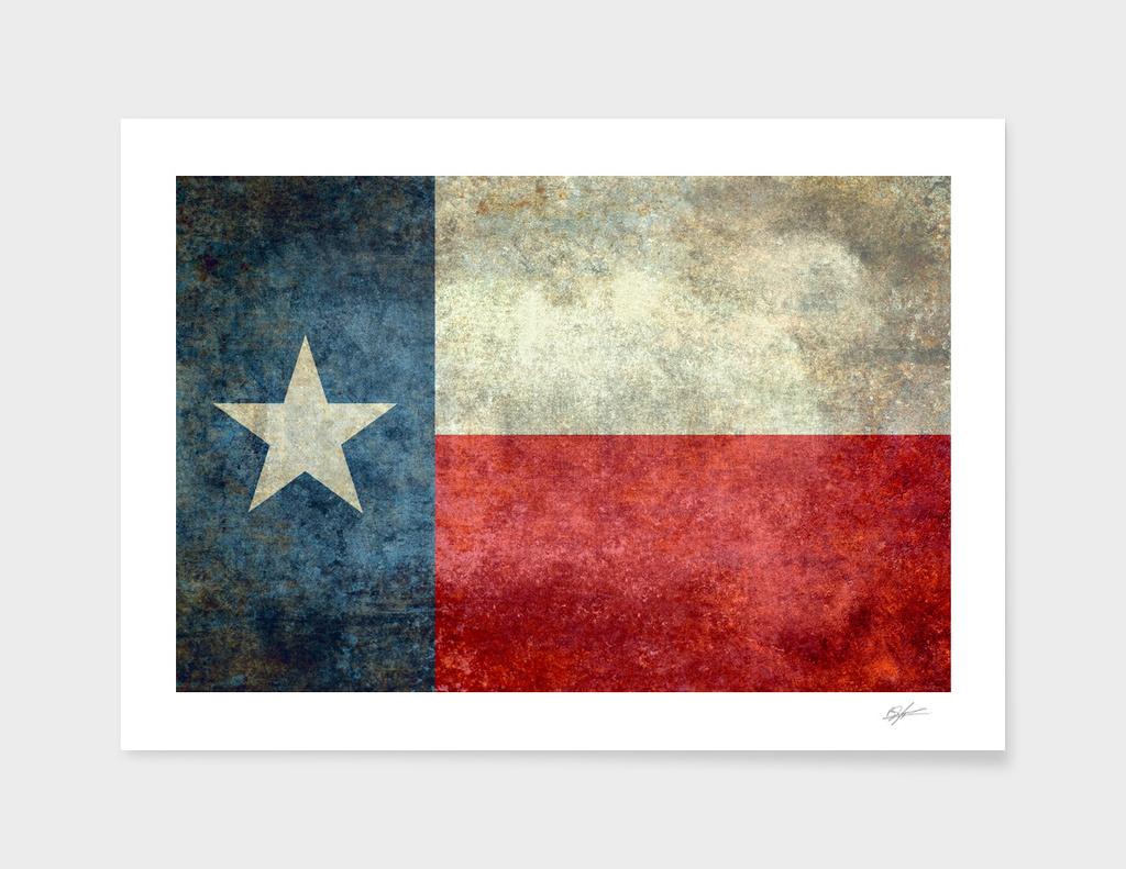 Texas flag vintage retro