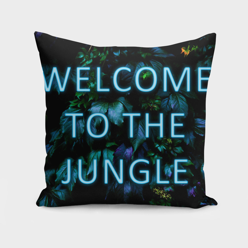 Welcome to the Jungle - Neon Typography