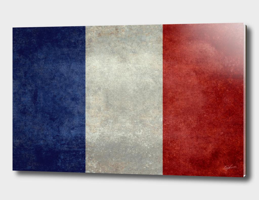 Flag of France - vintage style