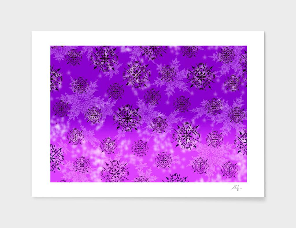Purple Snowflake Patter