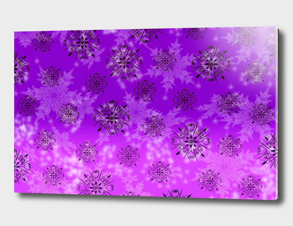 Purple Snowflake Patter