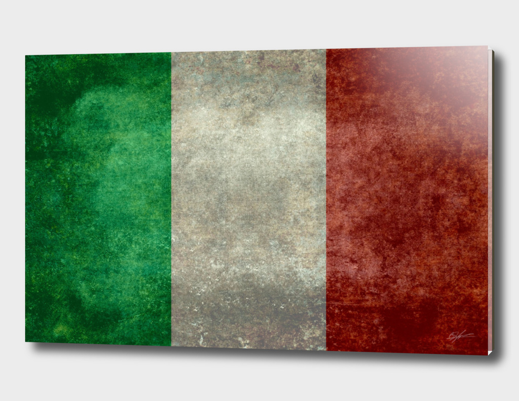 Flag of Italy in vintage retro style