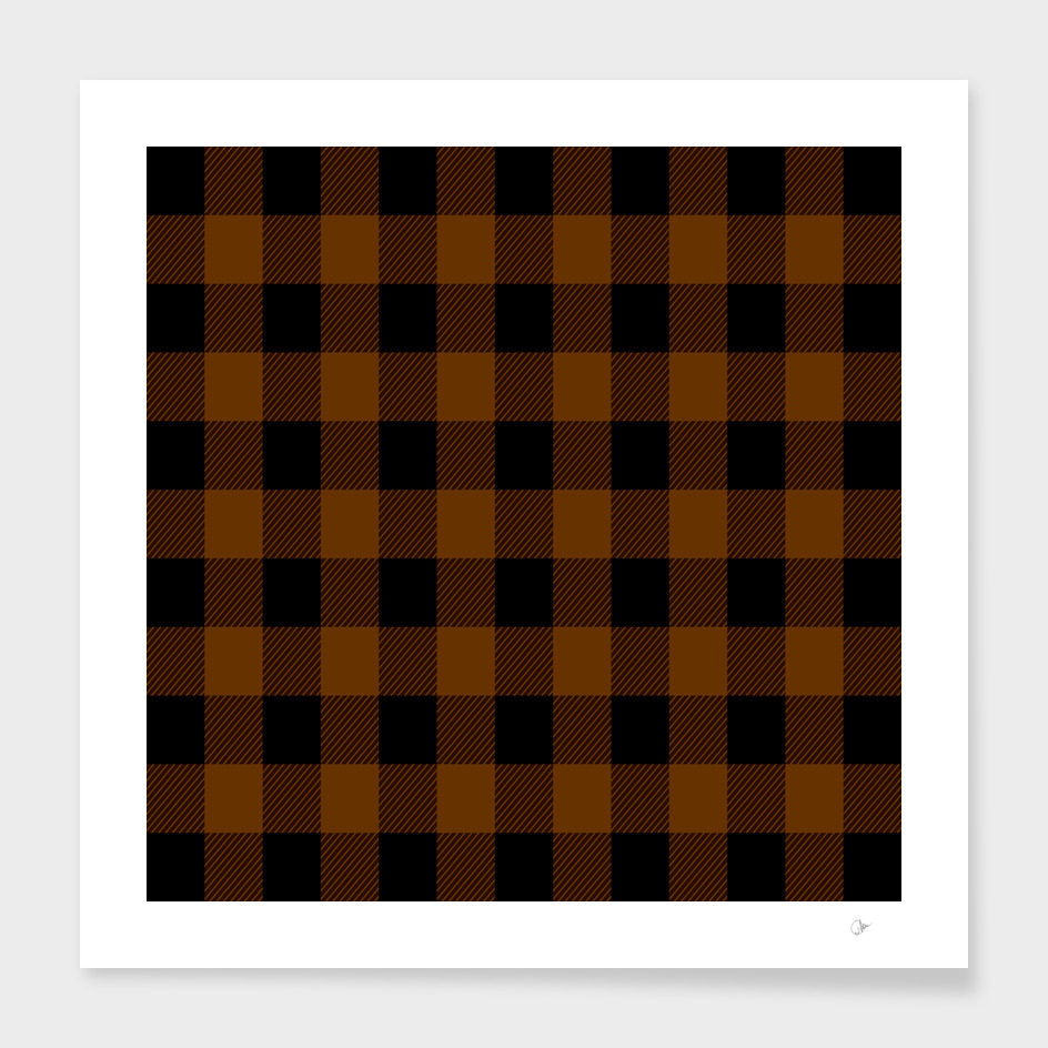 Brown & Black Check