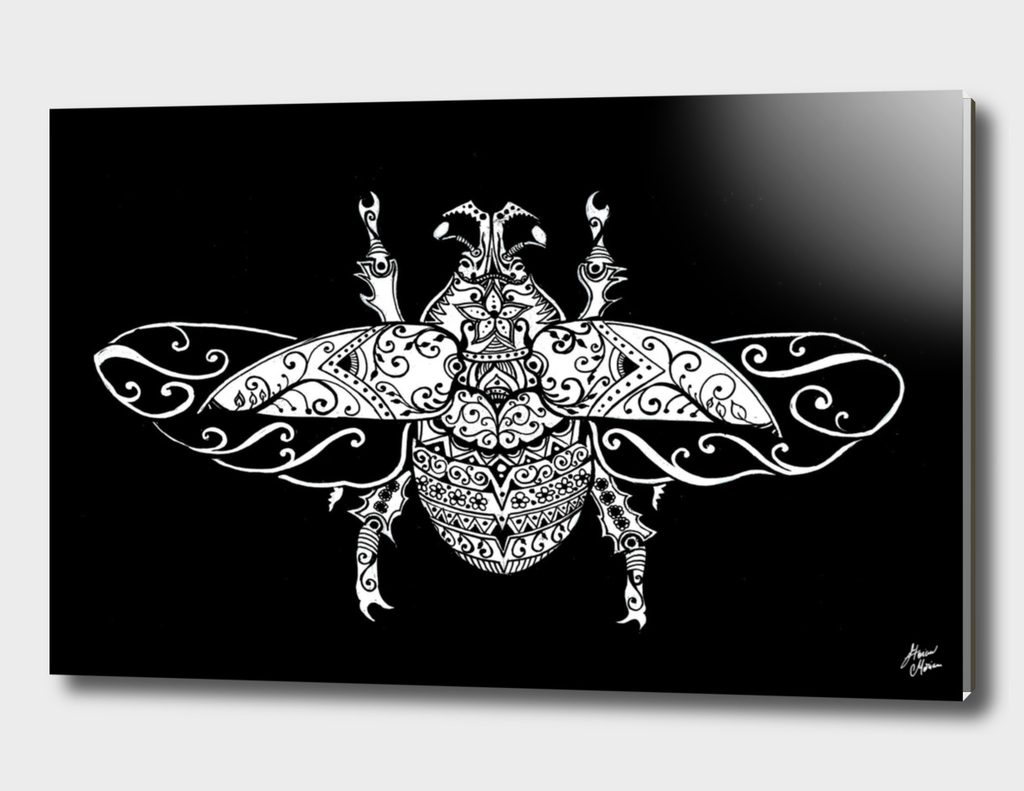 vintage ornate beetle