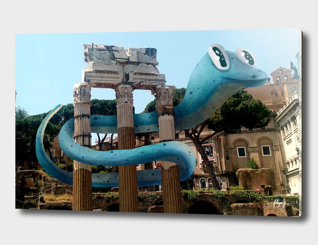 Big Snake at old Rome