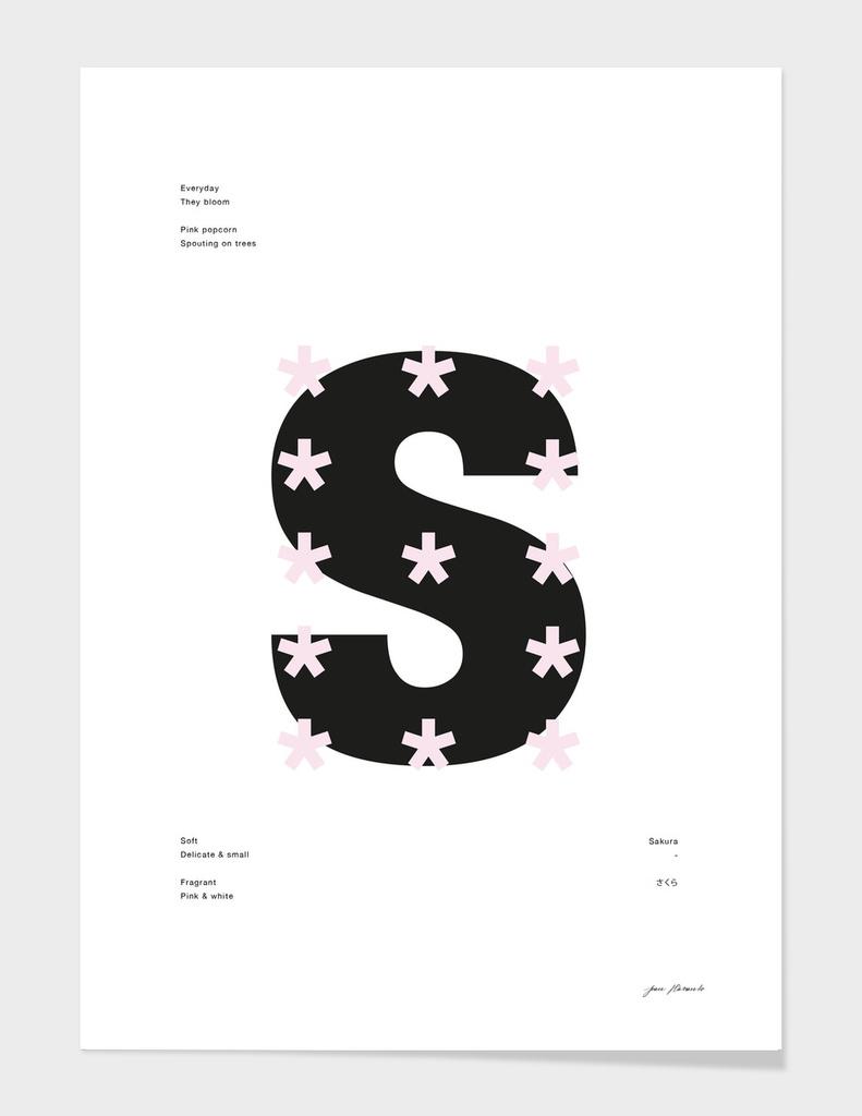 Sakura Typography Poster