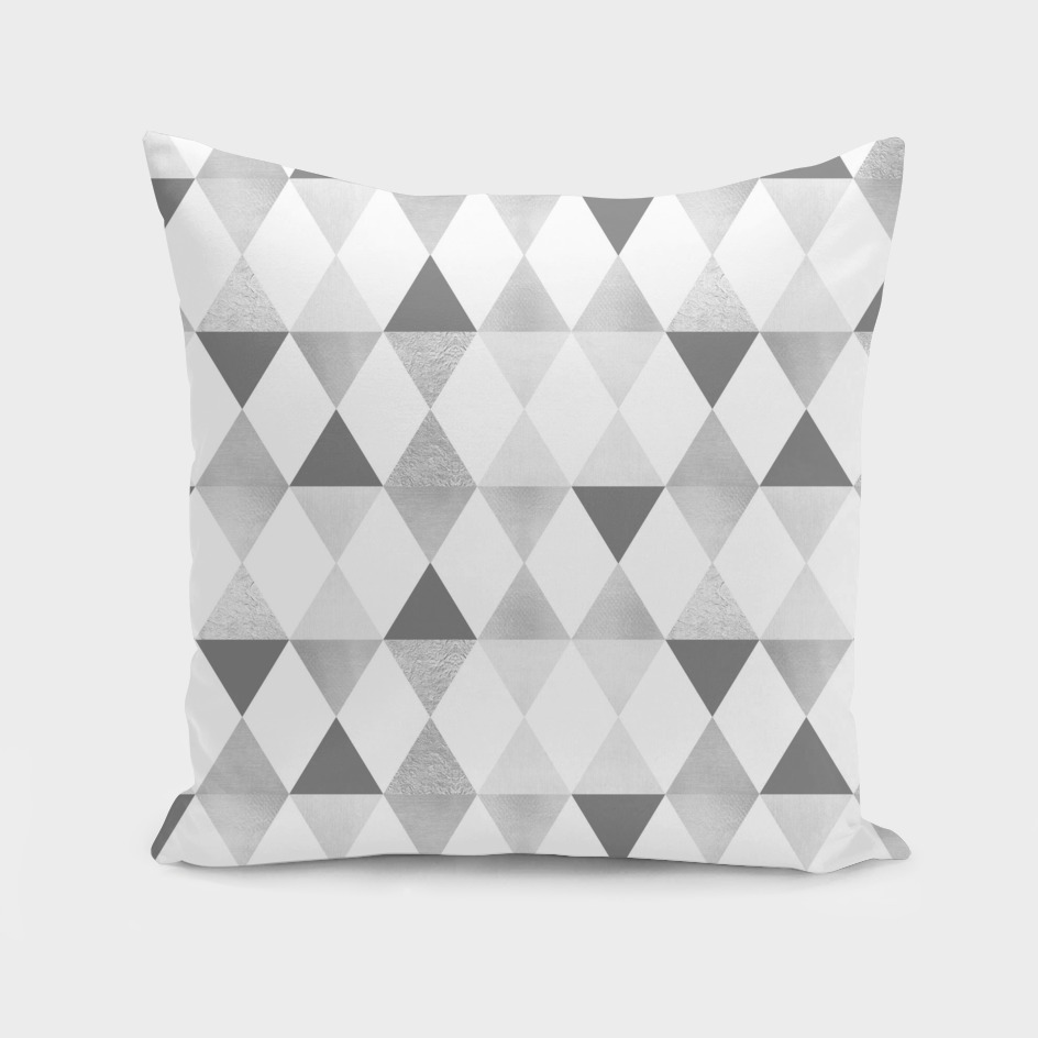 GRAPHIC PATTERN Funky triangles | lightgrey & silver