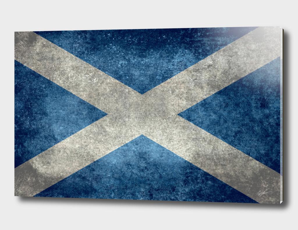 Flag of Scotland Vintage retro style