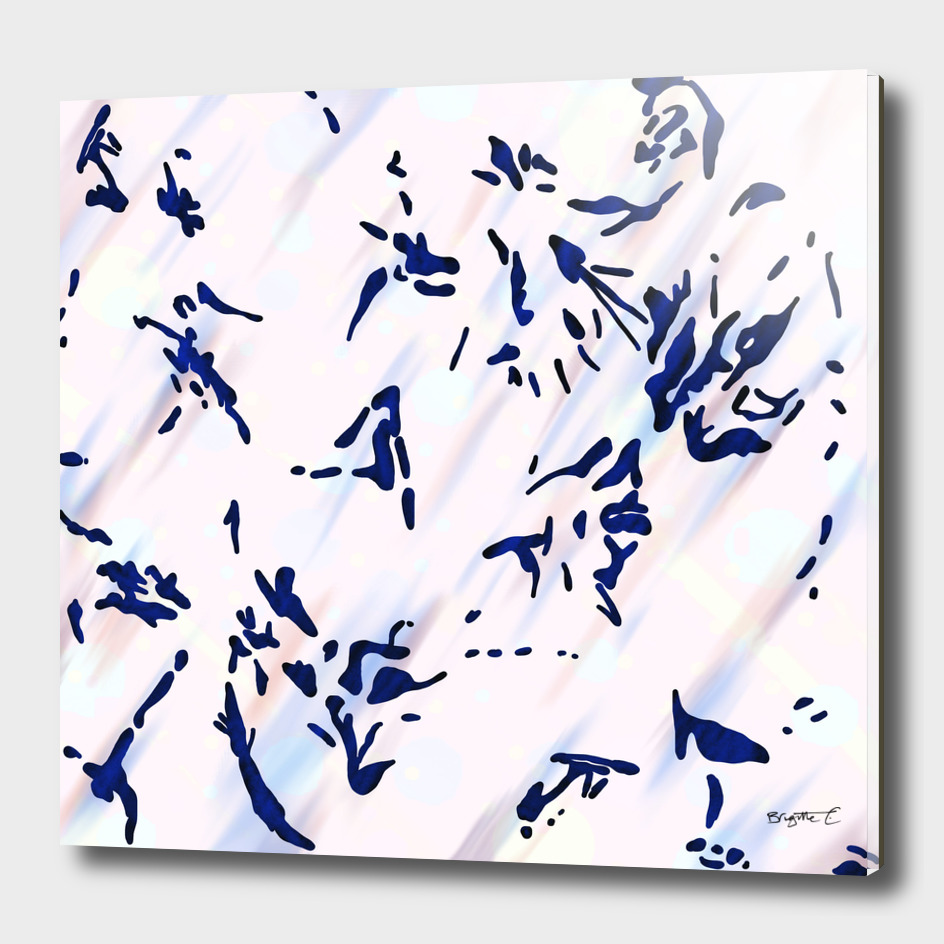 Blue Splatter Painting Pattern