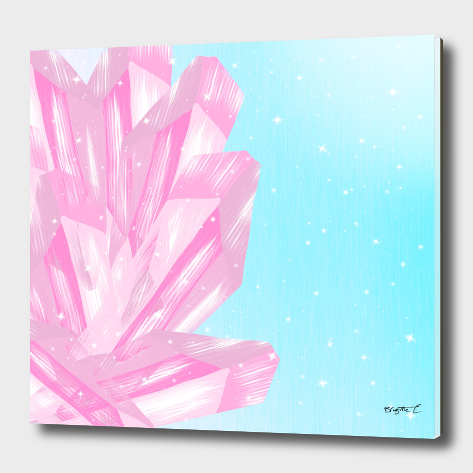 Sparkly Pinky Crystals Design