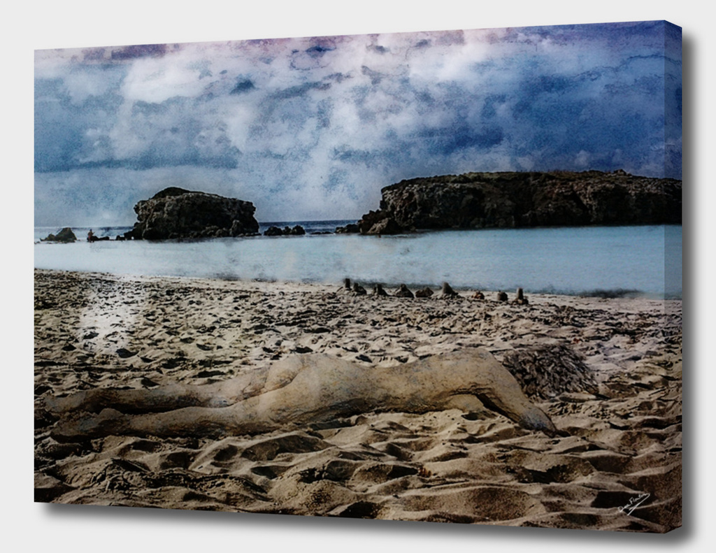 Flat Out Surreal Beach Nude Deekflo Sand Sculpture