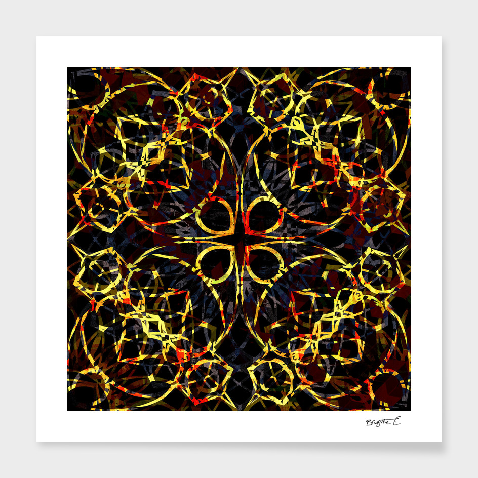 Flashy Colorful Boho Mandala Pattern