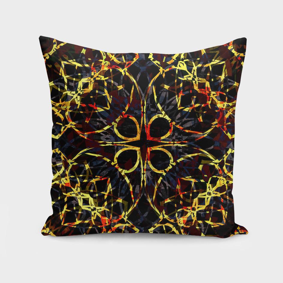 Flashy Colorful Boho Mandala Pattern
