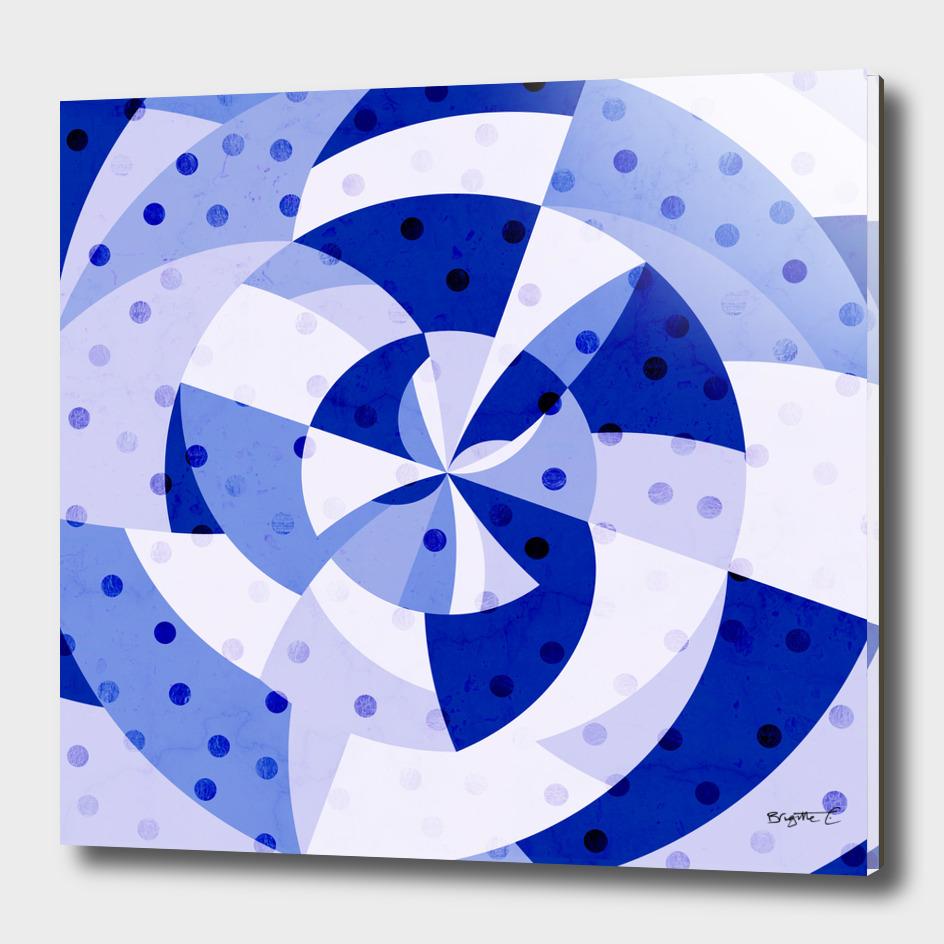 Polka Dots Blue Geometric Design