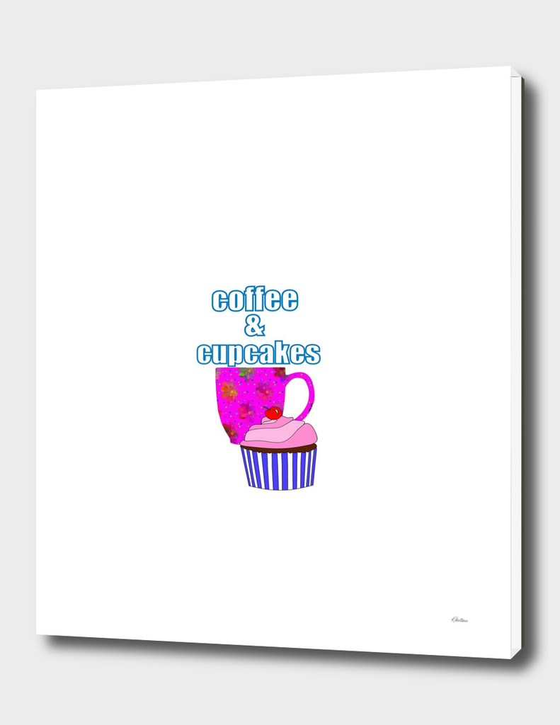 Coffee Break And Cupcakes - Food And Beverage Typography