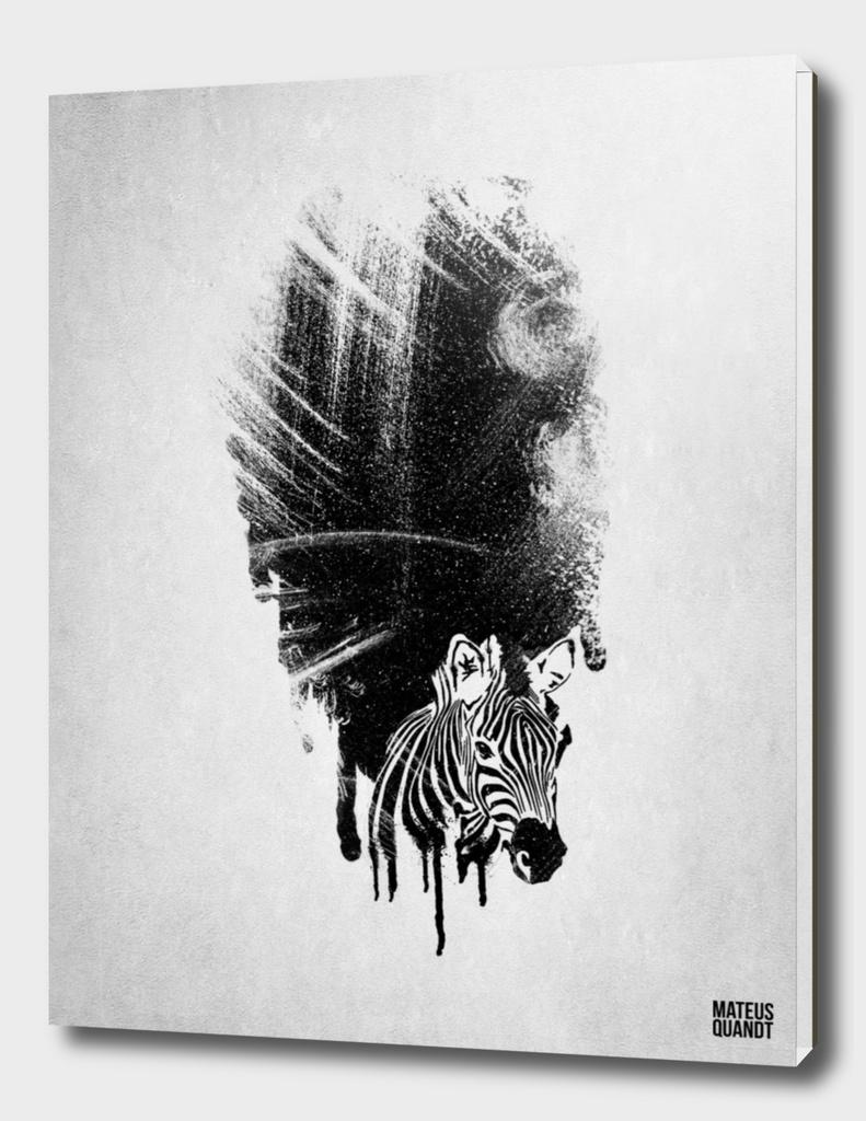 zebra Gouache