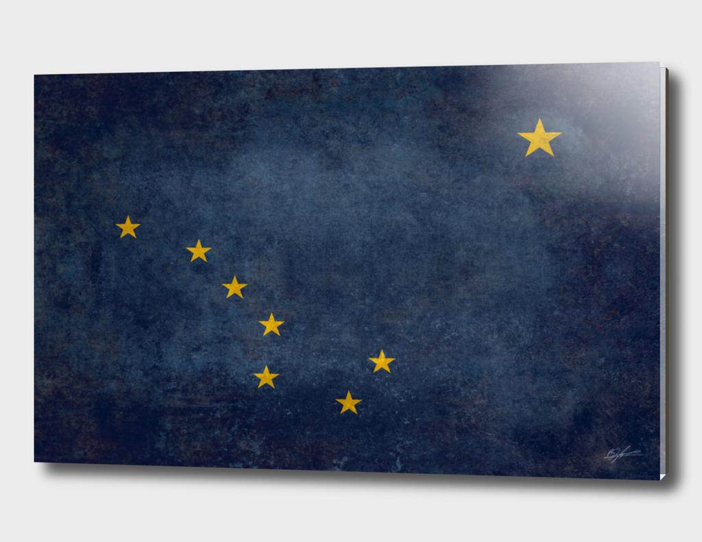 State flag of Alaska Vintage WW