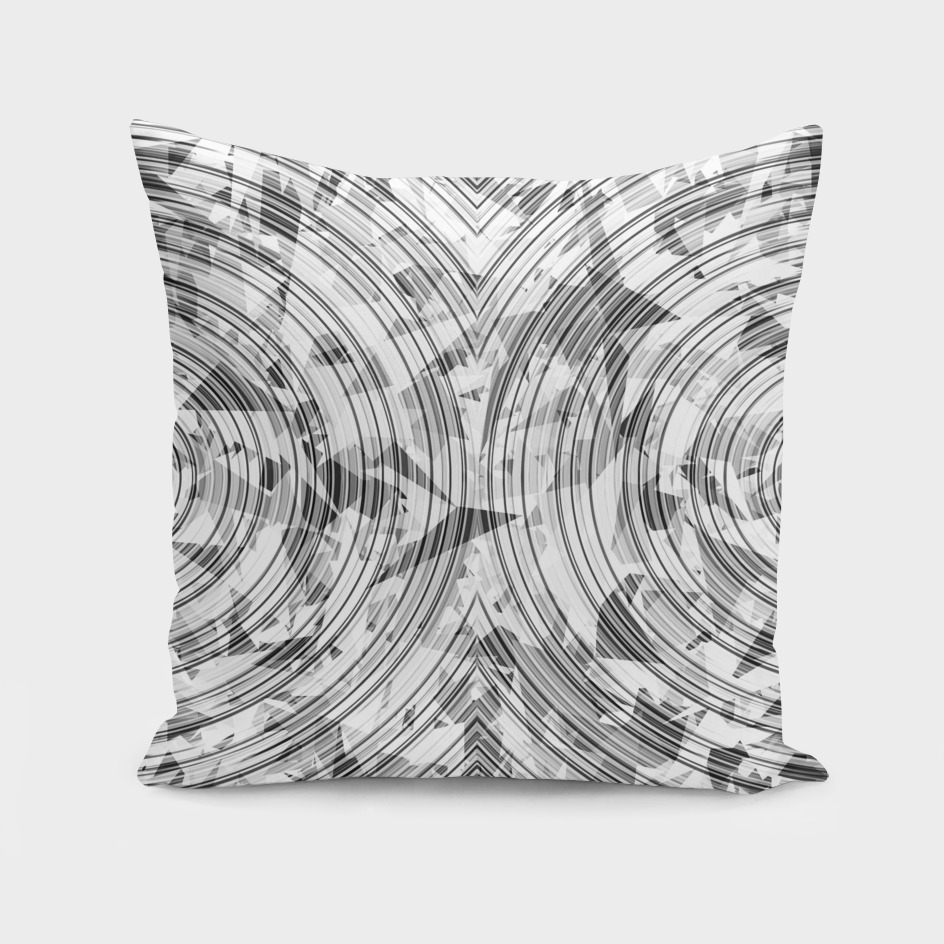 geometric triangle and circle pattern abstract