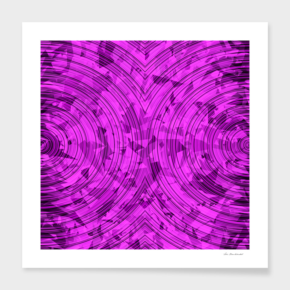 geometric triangle and circle pattern abstract in pink