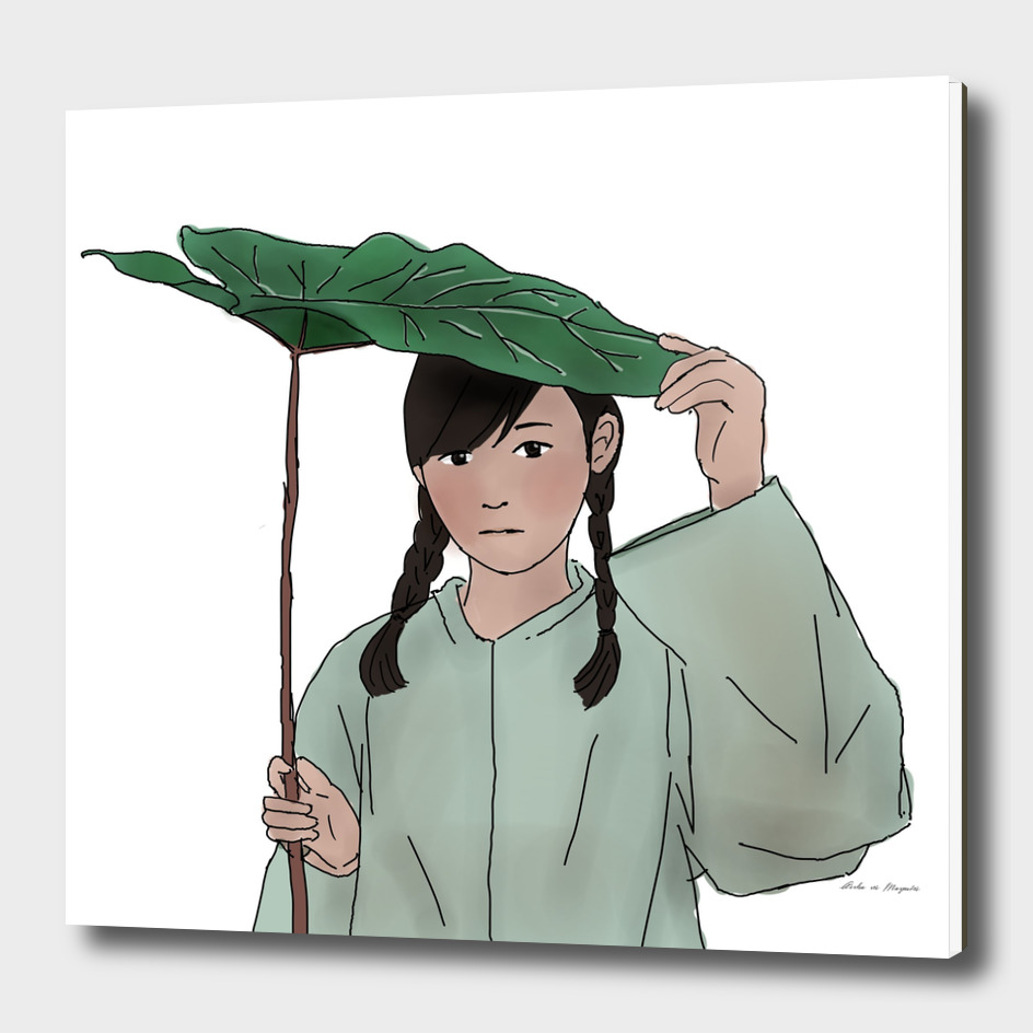 Cute Girl With Her Raincoat