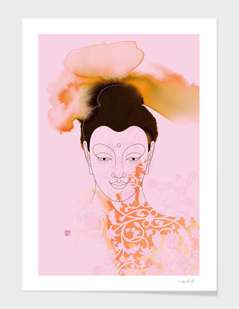 Pink Gautama Buddha
