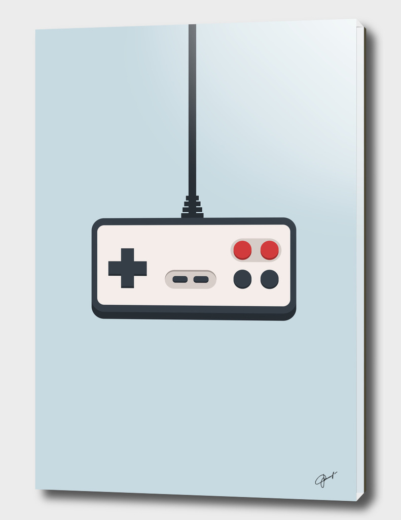 Retro joystick gamepad 80's-90's vector illustration