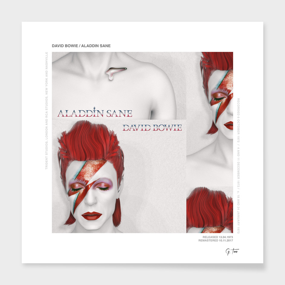 """RE""imagining record covers - ALADDIN SANE from DAVID BOWIE"