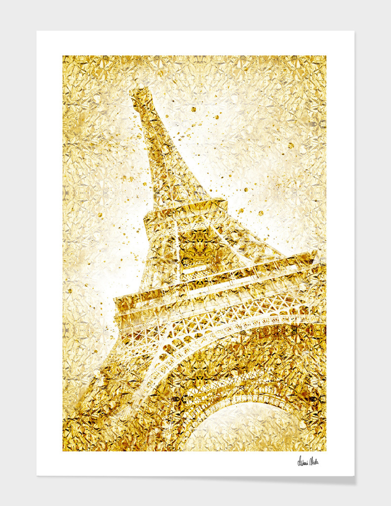 Golden wrapped EIFFEL TOWER