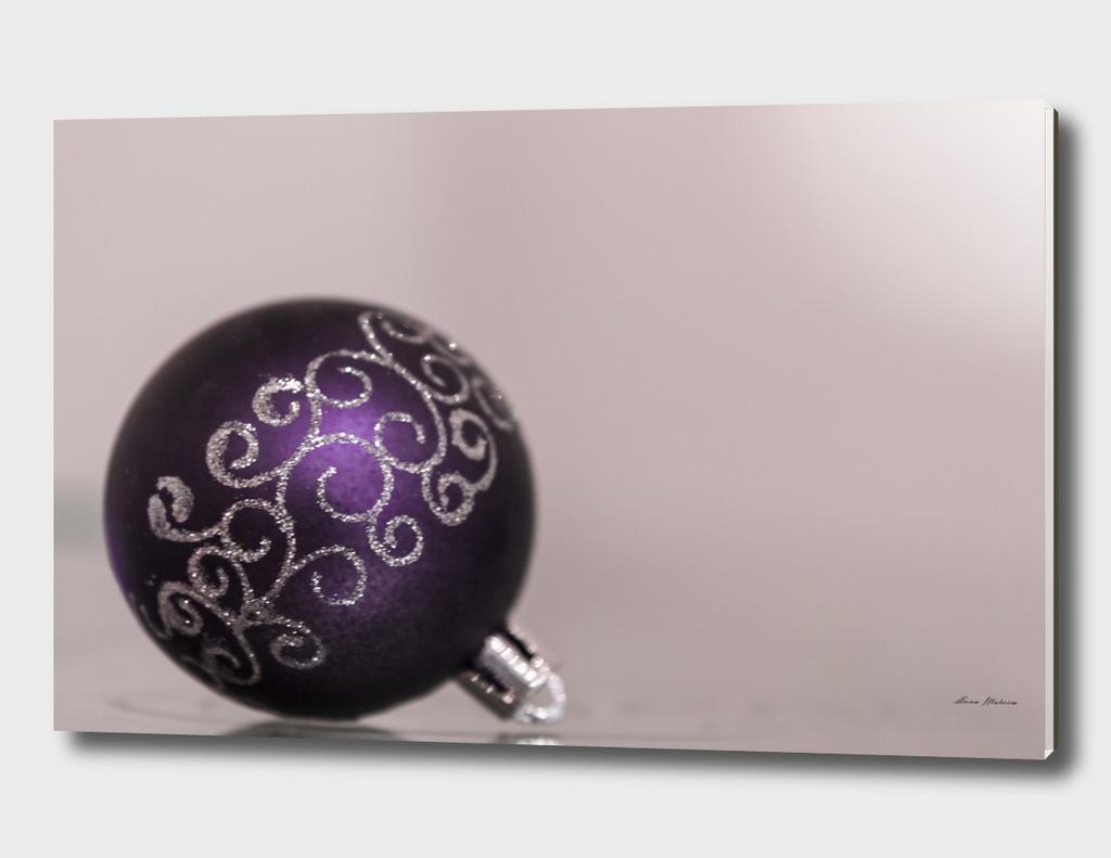 New year Christmas ball shiny purple