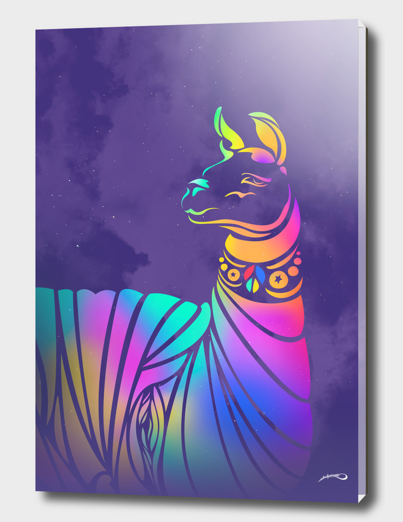 Llama Violeta by #Bizzartino