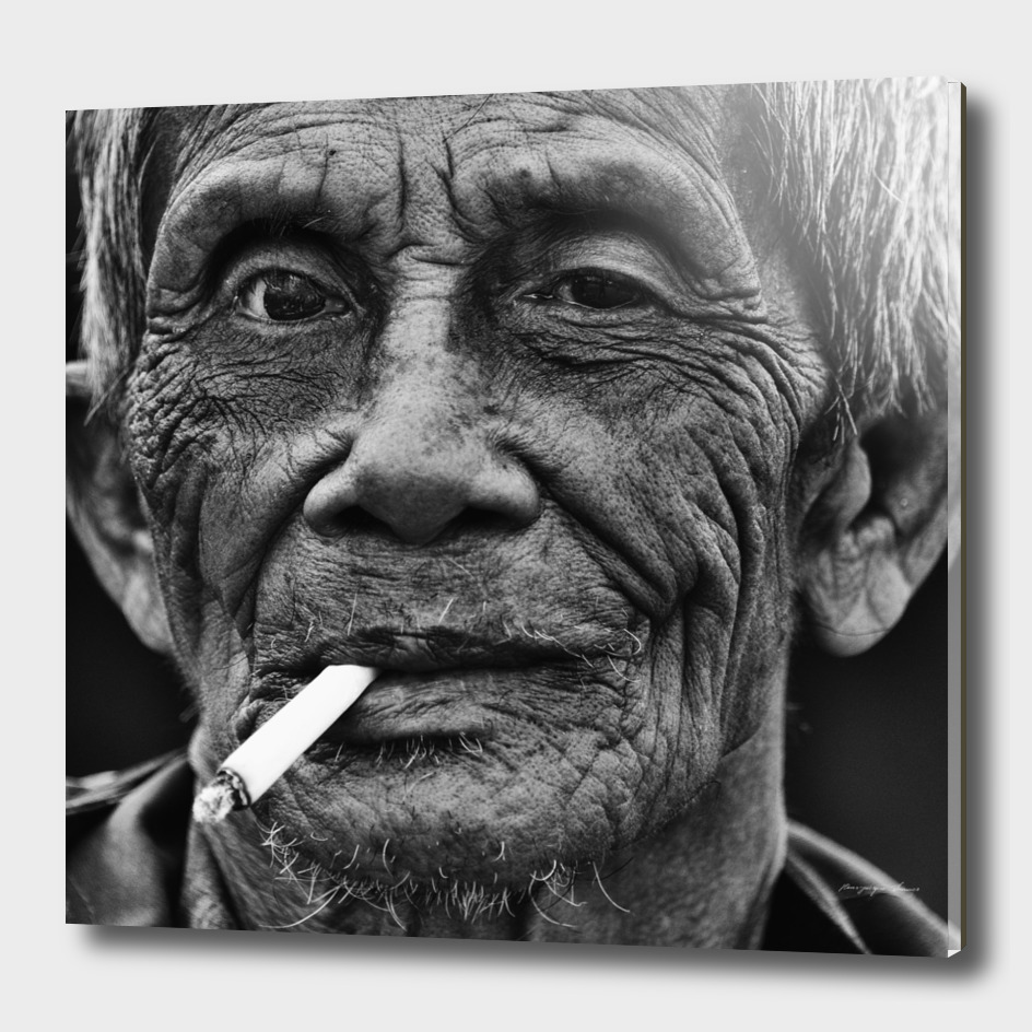 Old man with cigarette