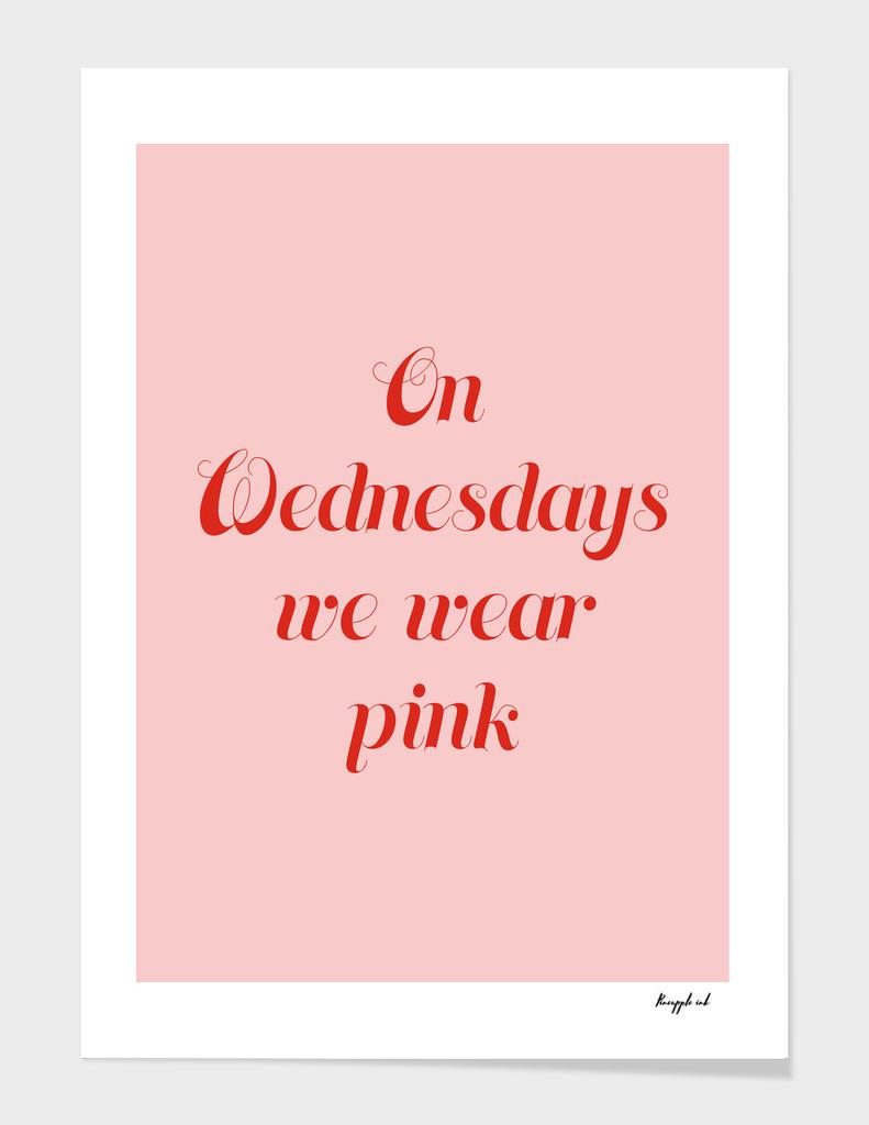 On Wednesdays we wear pink