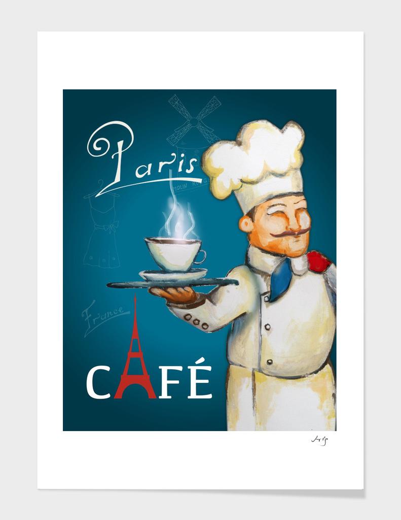 paris coffee sign