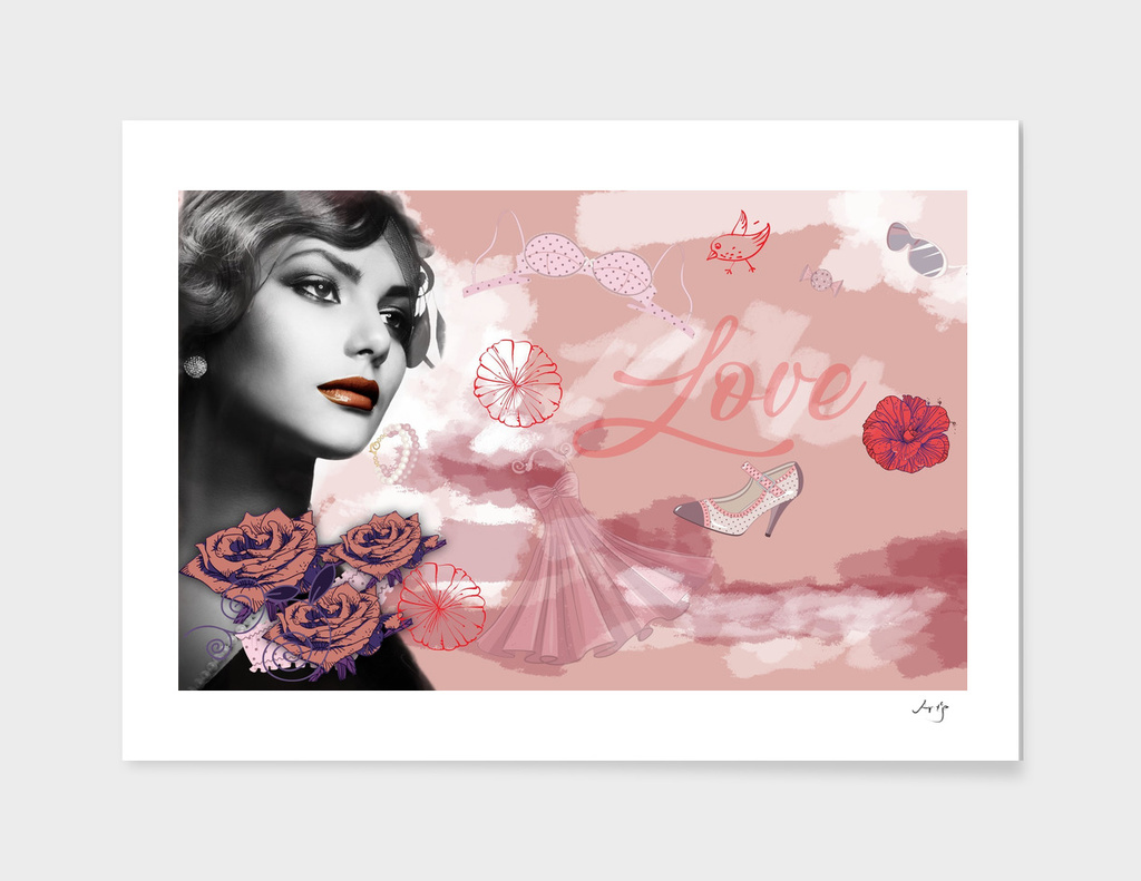 Vintage love collage