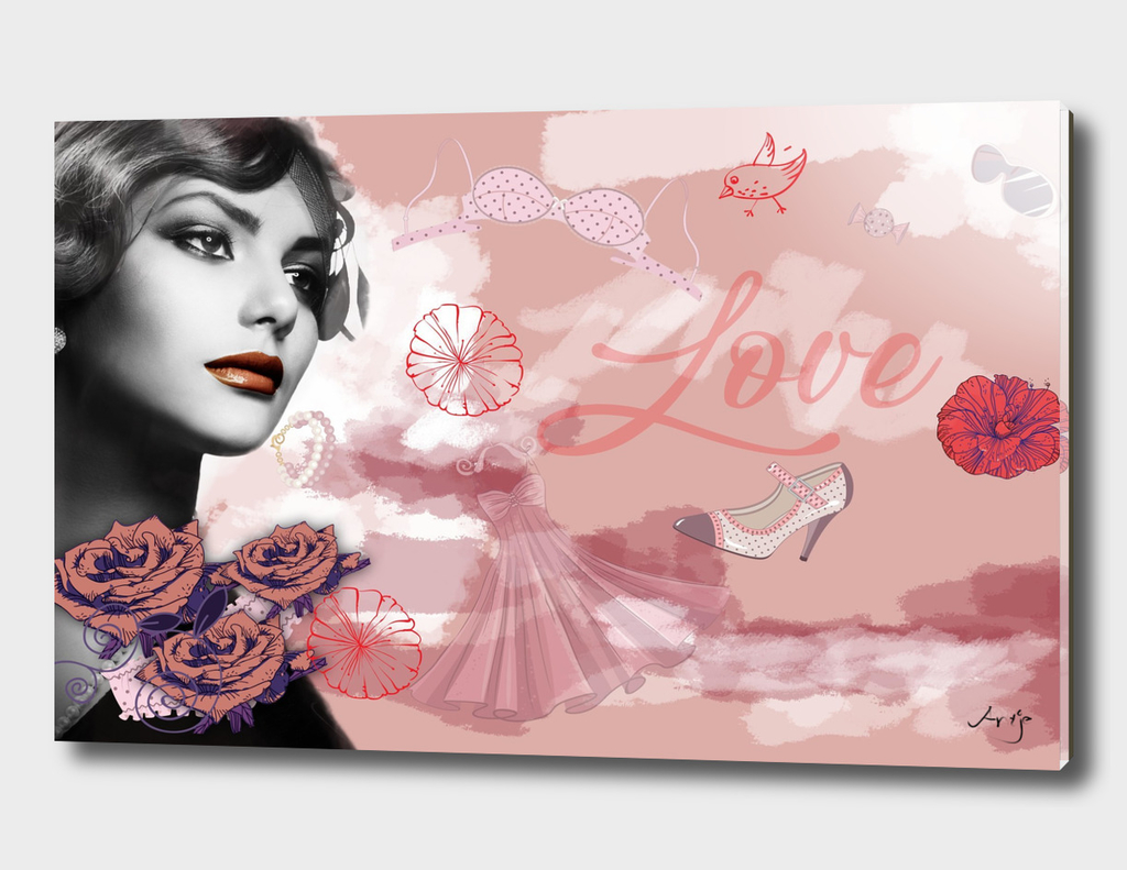 Vintage love collage