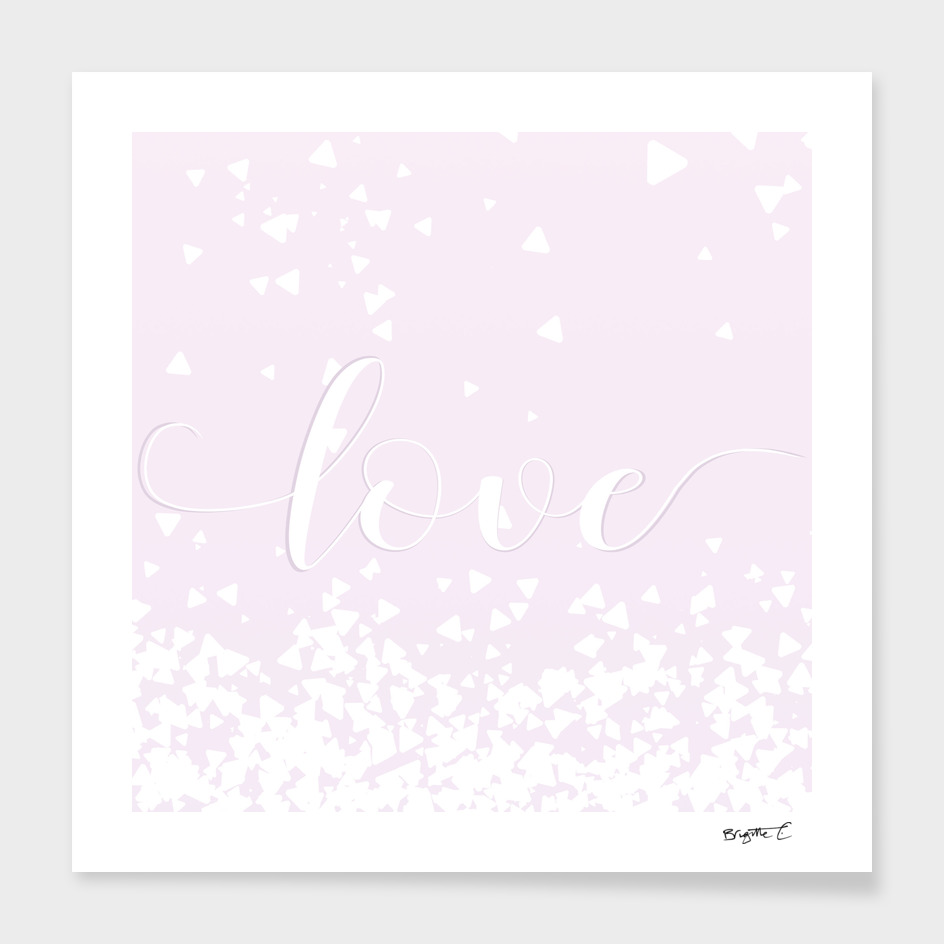 Delicate Love Rose Pink Glitter Design