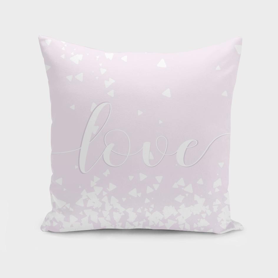 Delicate Love Rose Pink Glitter Design