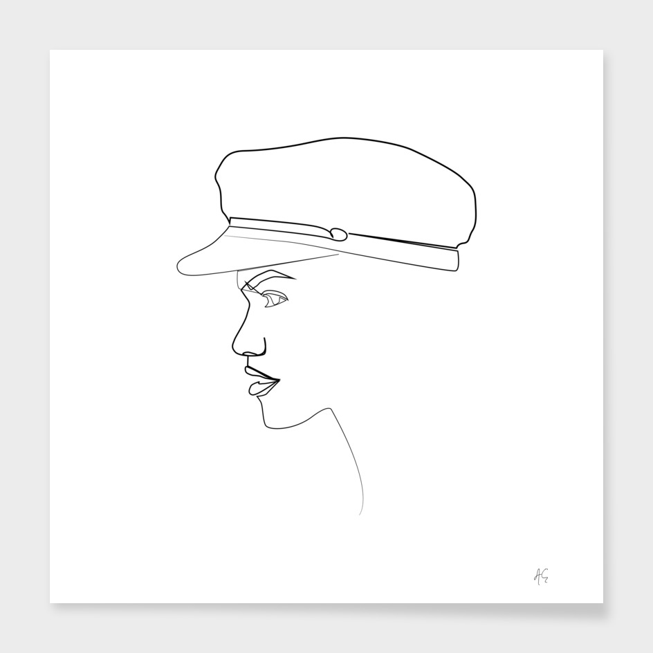 Nautical Hat Female Profile
