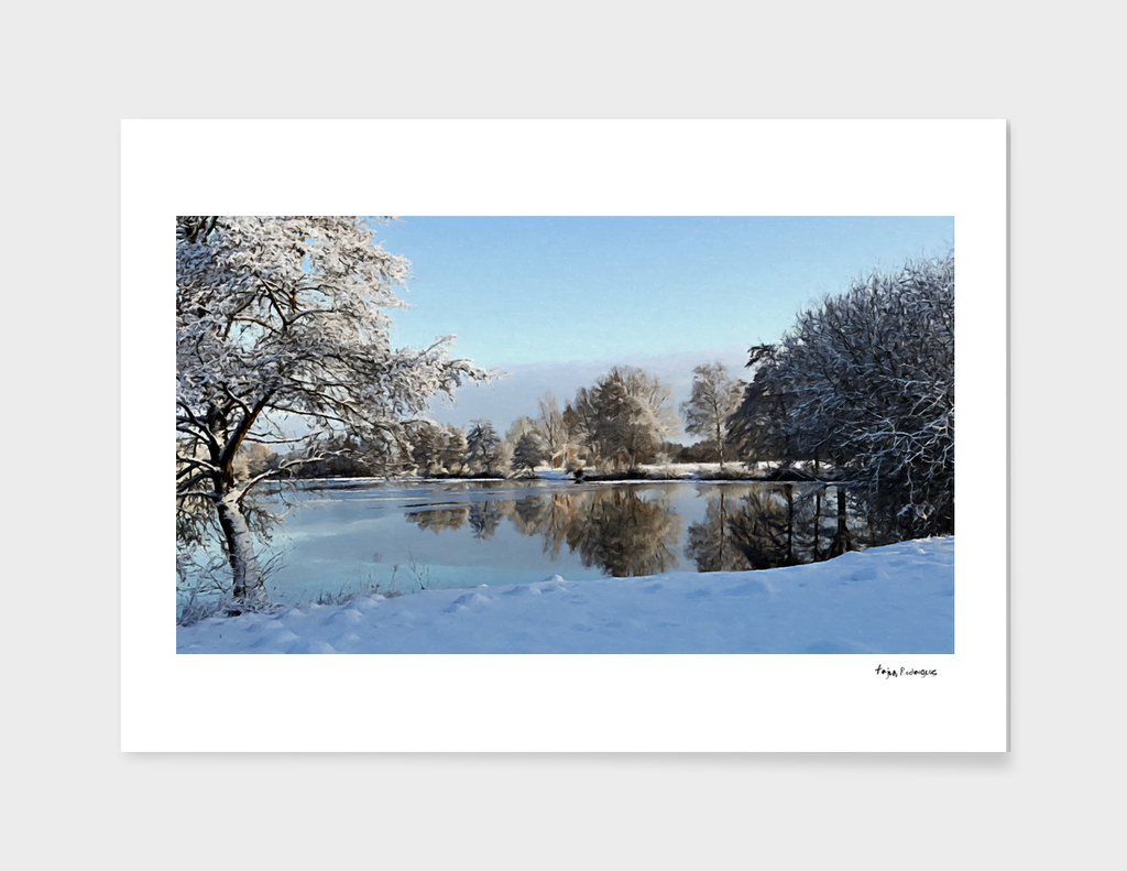 Winter Lake Scene