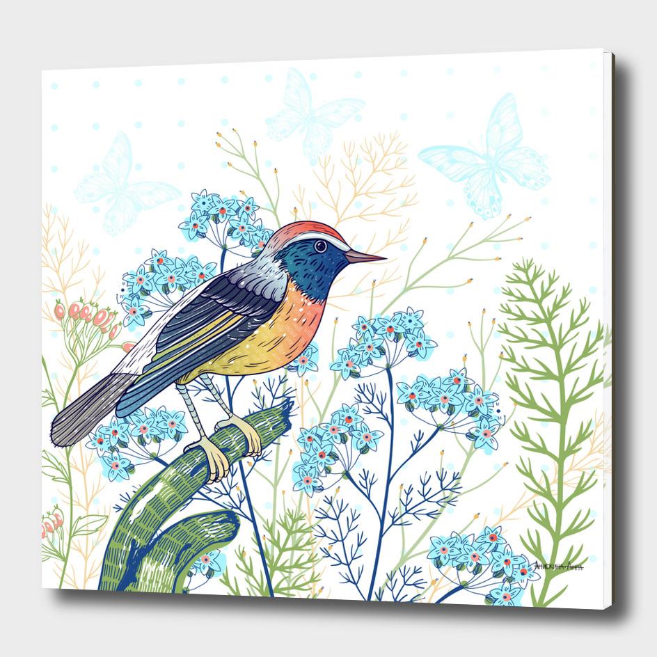 Bird&blooms