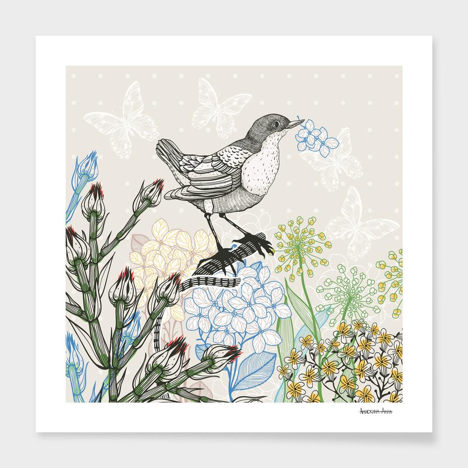 Bird&plants