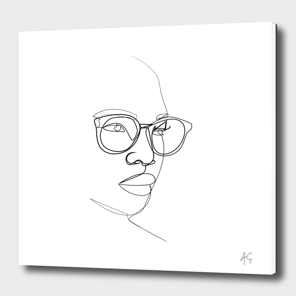 Woman Figure With Eyeglasses
