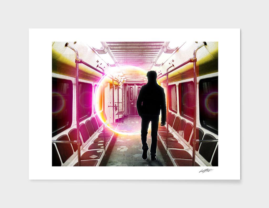 Dystopian Subway Car