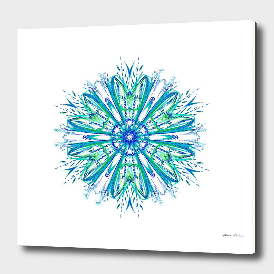 Blue and Green Snowflake