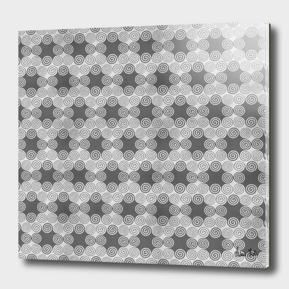 GRAPHIC PATTERN Curly squares | silver