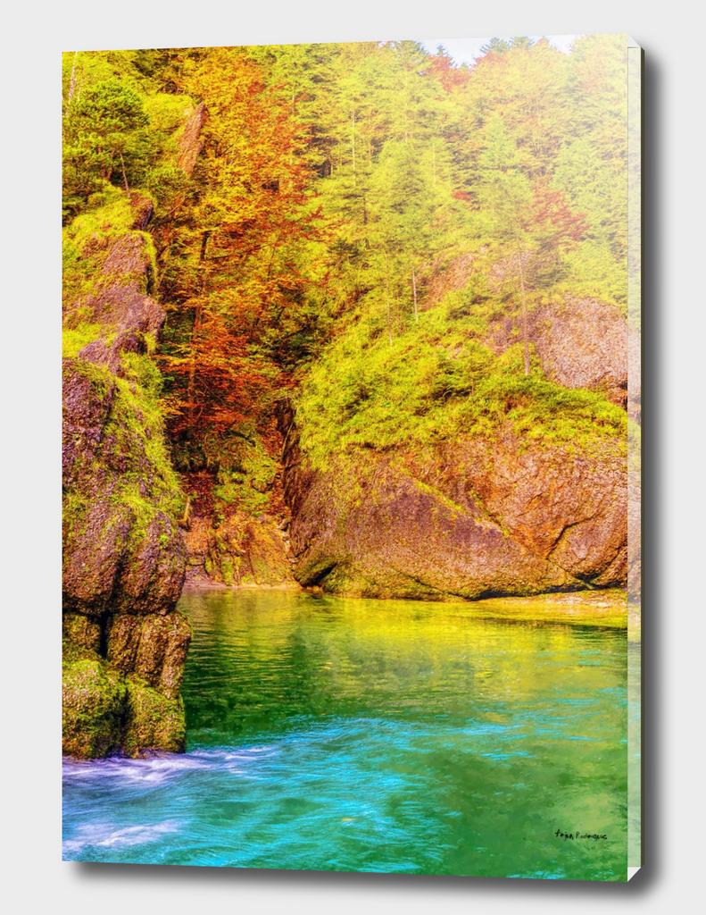 Ammer Mountains  Autumn Landscape
