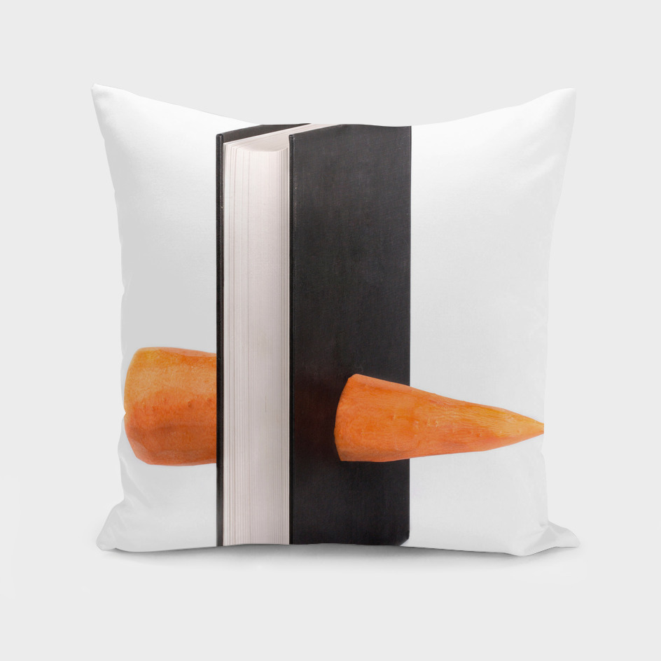 Carrots and a thick book