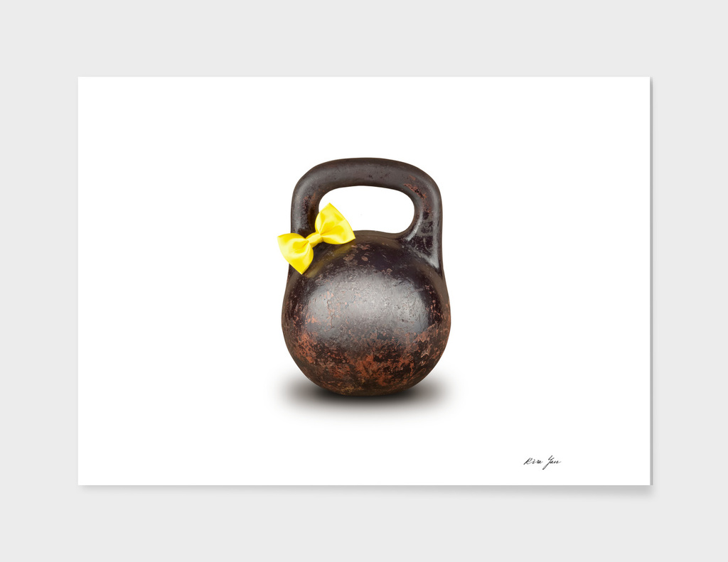 Funny large kettlebell
