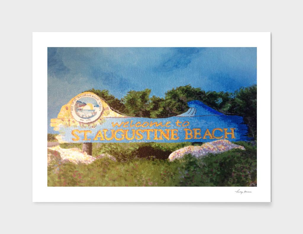 St. Augustine Beach Sign